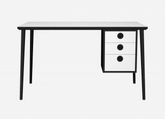 Skrivebord med skuffemodul til hjemmekontoret
